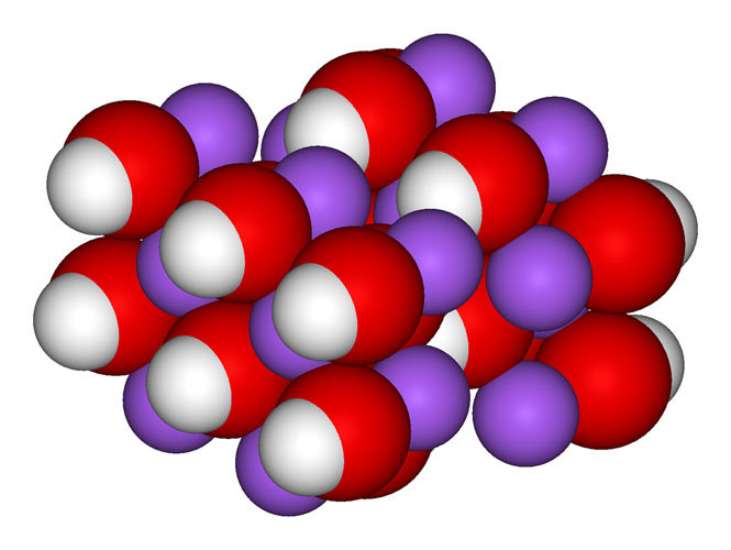 Sodium-Hydroxide-Crystal, Wikimedia Commons